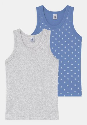 BASIC STAR PRINT 2 PACK  - Undertröja - grey/blue