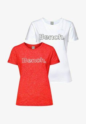 2 PACK - Print T-shirt - rot+weiß