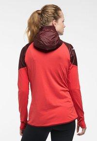 Haglöfs - L.I.M HYBRID HOOD  - Outdoor jacket - hibiscus red/maroon red - 1