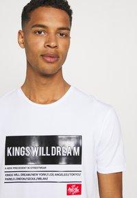 Kings Will Dream - TAYPORT TEE - Print T-shirt - white - 3
