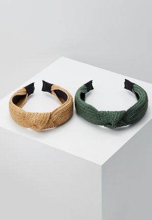 2 PACK - Hair styling accessory - green/beige