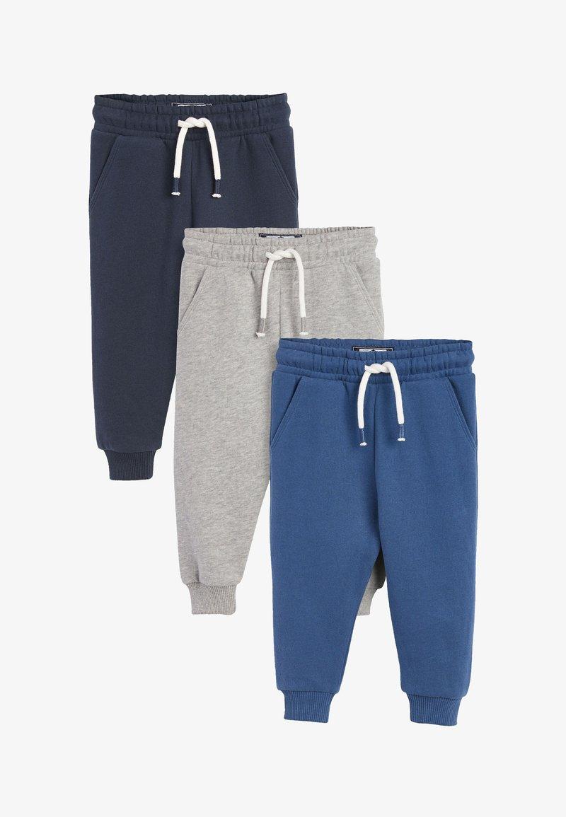 Next - 3 PACK  - Tracksuit bottoms - blue