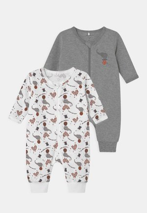 NBNNIGHTSUIT CIRCUS 2 PACK UNISEX - Pyjamas - grey melange