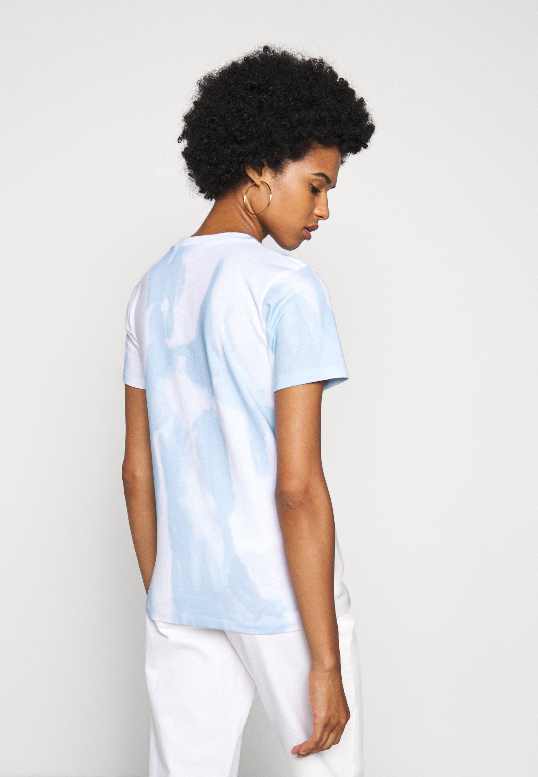 Fiorucci Tie Dye Angels Tee - T-shirts Med Print Blue/lyseblå