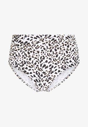 MALAWI HI WAIST PANT - Spodní díl bikin - white