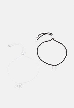 EQUESTRIAN SLIDER 2 PACK - Bracelet - silver-coloured/black/white