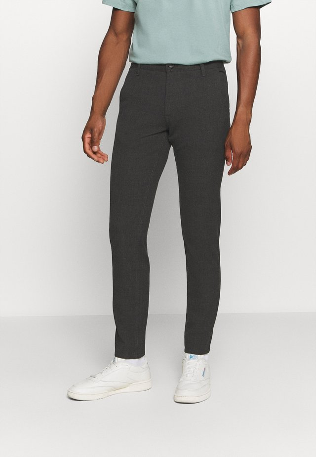 SLHSLIM STORM FLEX SMART PANTS - Pantaloni - grey