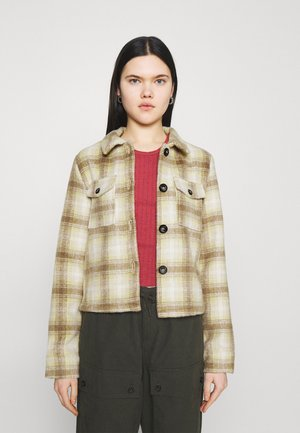 ONLLOU SHORT CHECK JACKET - Summer jacket - sunshine/cobblestone