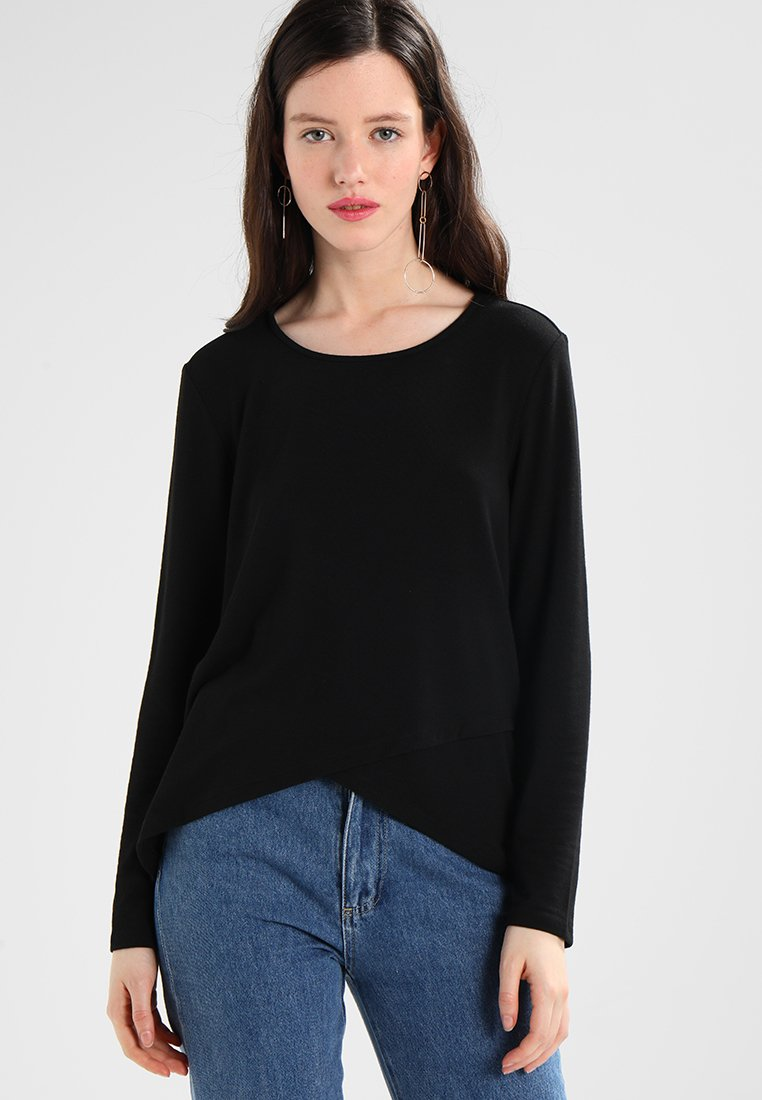 ONLY - ONLSONJA MIDA WRAP - Long sleeved top - black