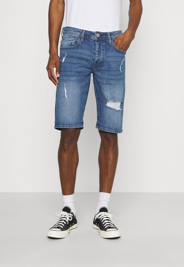 MOLOKO - Denim shorts - dark blue denim