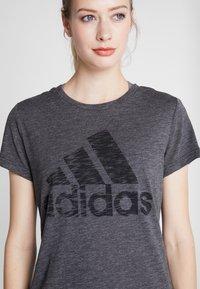 adidas Performance - WINNERS TEE - Camiseta estampada - black - 4