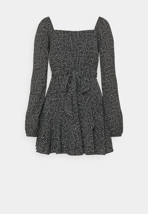 PAMELA REIF X ZALANDO OVERLAPPED FRILL MINI DRESS - Sukienka letnia - black