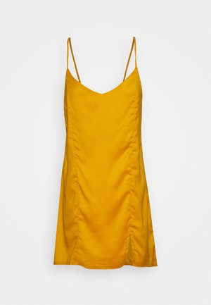 TIE BACK CAMI DRESS - Vestido informal - mustard