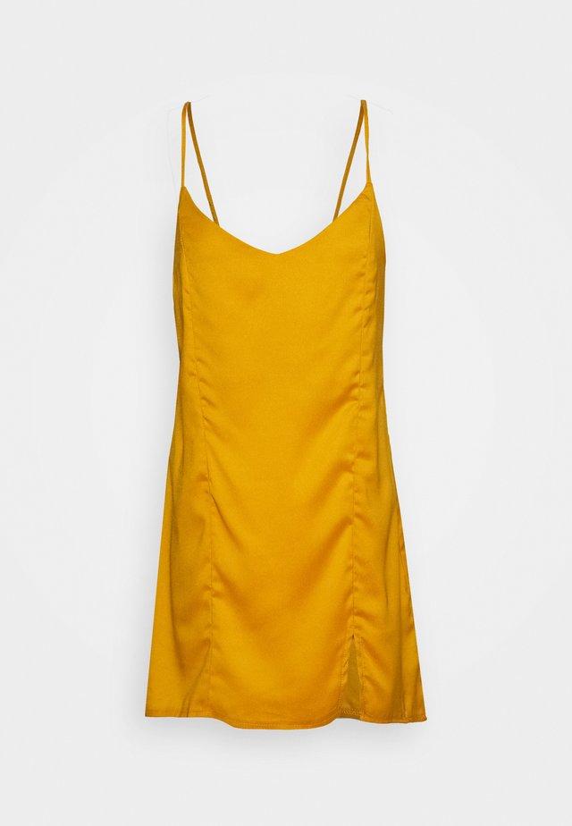 TIE BACK CAMI DRESS - Vestido informal - mustard