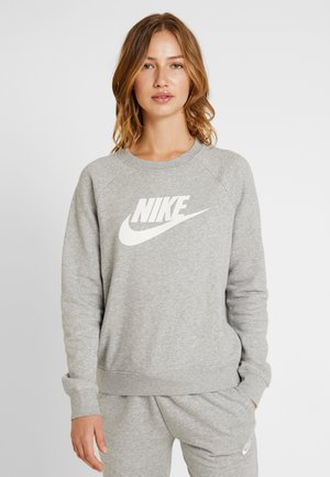 CREW - Sweatshirt - grey heather/white