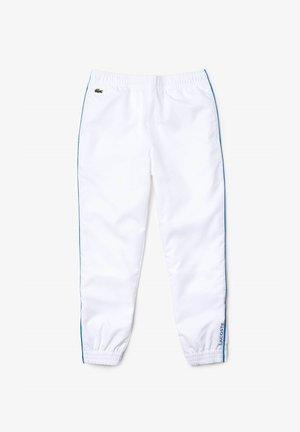 TENNIS UNISEX - Pantalon de survêtement - blanc / bleu