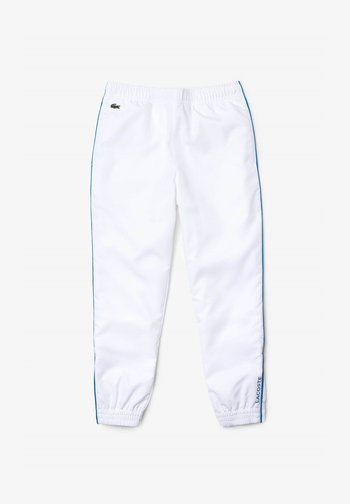 TENNIS UNISEX - Tracksuit bottoms - blanc / bleu
