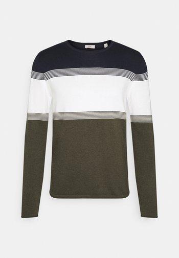 COO F STRIP  - Stickad tröja - dark khaki