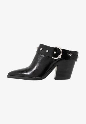 SALLEST - Heeled mules - black