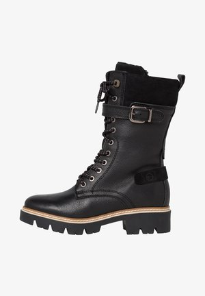 Cowboy/biker ankle boot - black comb