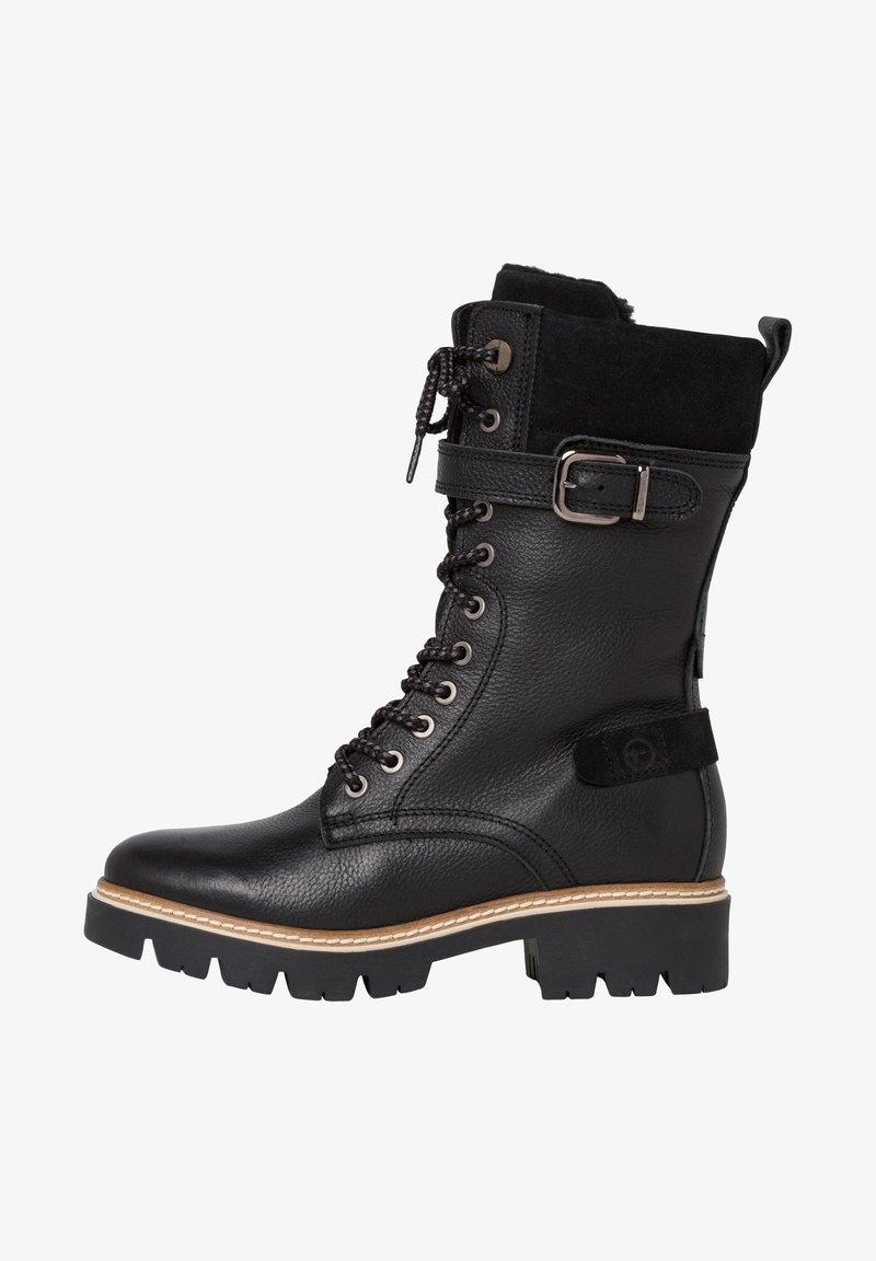Tamaris - Cowboy/biker ankle boot - black comb