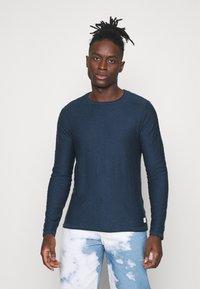 Blend - Stickad tröja - dark denim - 0