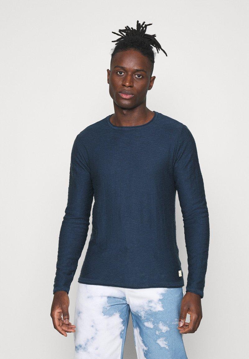 Blend - Stickad tröja - dark denim