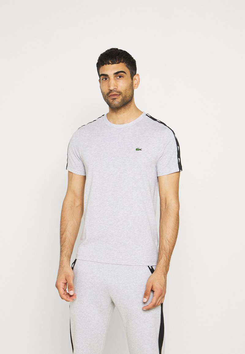 Lacoste Sport - T-shirt med print - silver chine/black