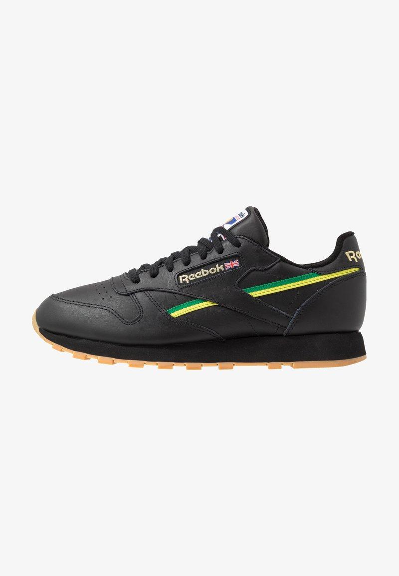 Reebok Classic - Sneakersy niskie - black/baseball green/hero yellow