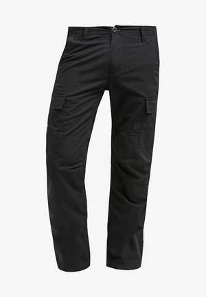 AVIATION PANT COLUMBIA - Reisitaskuhousut - black rinsed