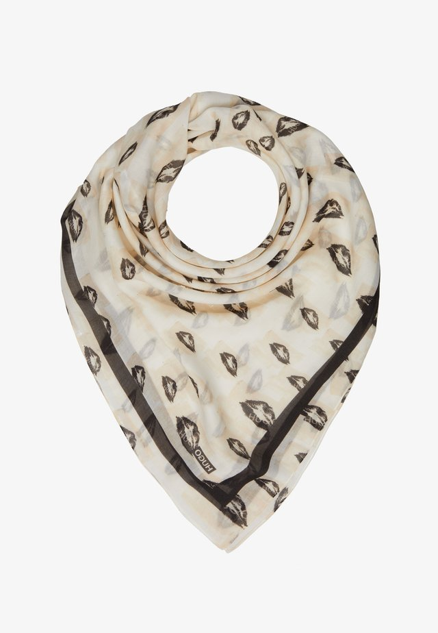 KISSES ALL OVER PRINTED SCARF - Scarf - natural