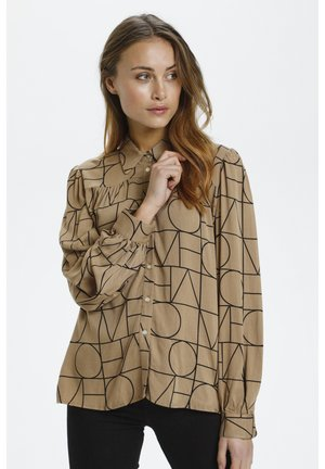 MONTOYA - Button-down blouse - beige/camel