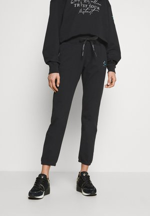 ROSE COLLECTION PANTS - Tracksuit bottoms - black