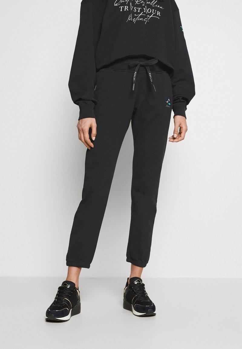 Replay - ROSE COLLECTION PANTS - Pantaloni sportivi - black