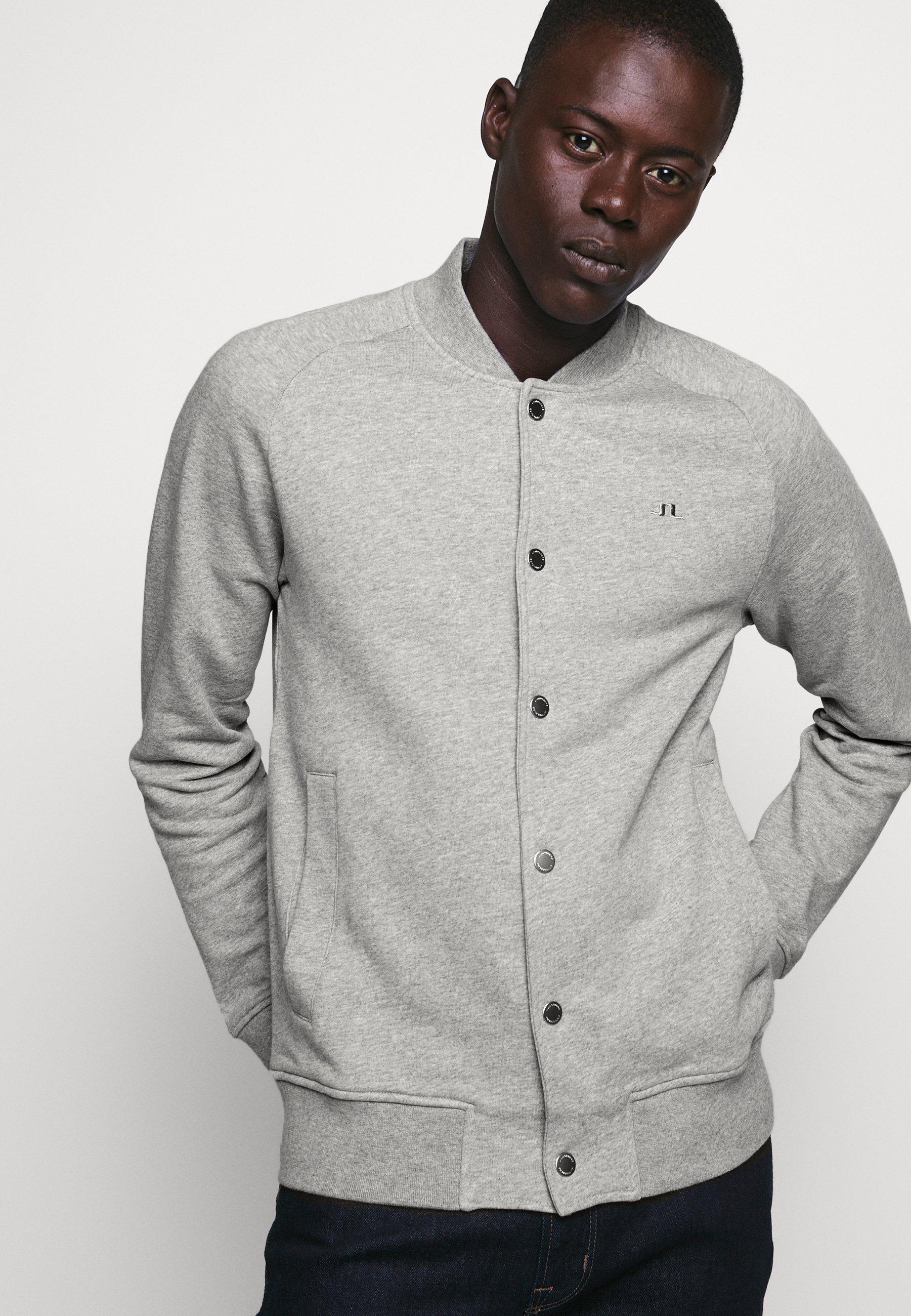 J.LINDEBERG JASPAR SWEAT STRUCTURE - veste en sweat zippée - grey