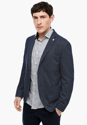 Blazer jacket - dark blue check