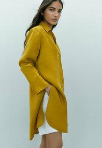 Massimo Dutti - Button-down blouse - mustard yellow - 2