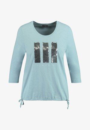 MIT PAILLETTEN  - Long sleeved top - cameo blue gemustert