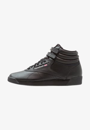FREESTYLE HI LIGHT SOFT LEATHER SHOES - Høye joggesko - black