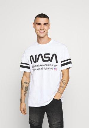ONSNASA STRIPE TEE - T-shirt z nadrukiem - white