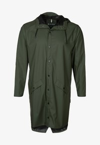 Rains - LONG JACKET UNISEX - Waterproof jacket - green - 0