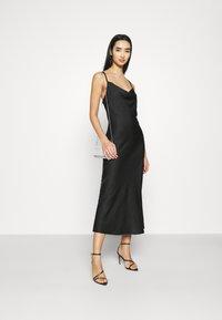 Vero Moda - VMCENTURY OPEN BACK DRESS - Společenské šaty - black - 1