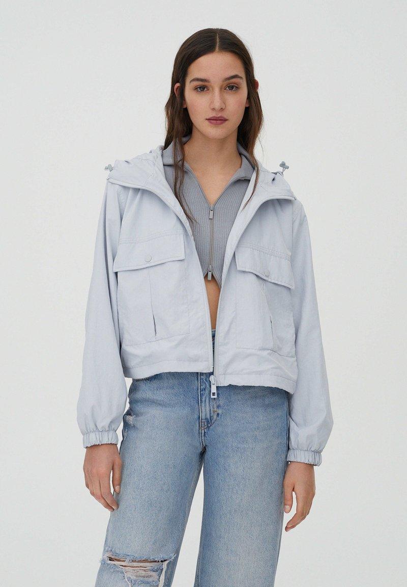PULL&BEAR - Summer jacket - light blue