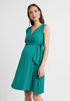 ROMIA TANK - Jersey dress - petrol