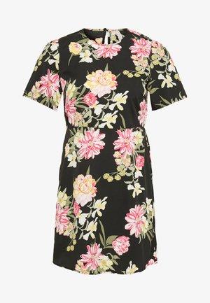 PCMALENE DRESS - Denní šaty - black/pink