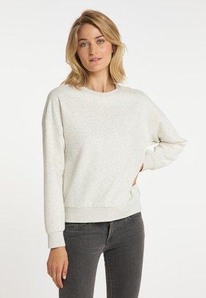 Sweatshirt - wollweiss melange