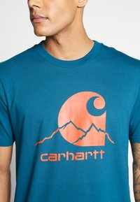 Carhartt WIP - OUTDOOR  - Print T-shirt - moody blue/clockwork - 4
