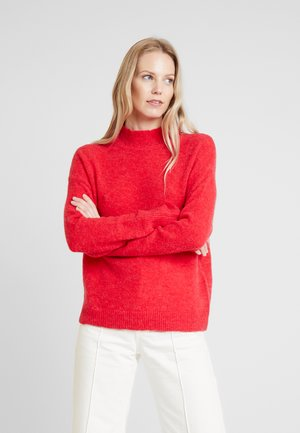 KAITLYN TURTLENECK - Stickad tröja - red