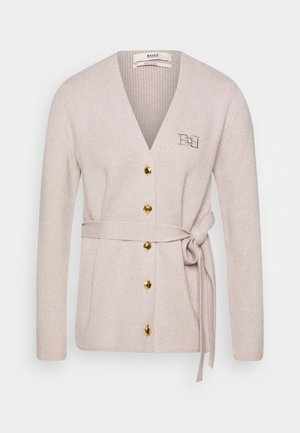 BELTED CARDIGAN - Kardigan - caillou
