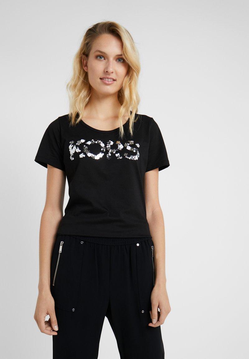 MICHAEL Michael Kors - T-shirt imprimé - black/silver